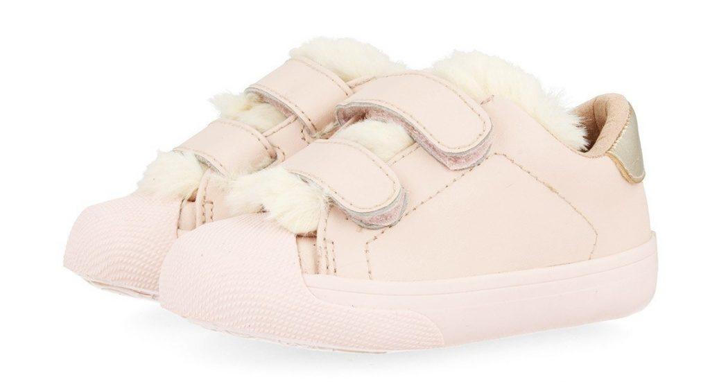 zapatillas gioseppo bebe rosa con pelo fur